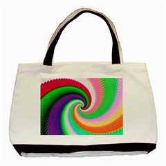 Colorful Spiral Dragon Scales   Basic Tote Bag by designworld65