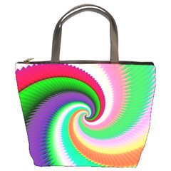 Colorful Spiral Dragon Scales   Bucket Bags by designworld65