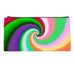 Colorful Spiral Dragon Scales   Pencil Cases by designworld65