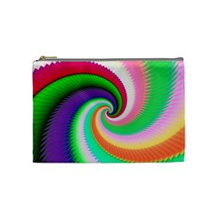 Colorful Spiral Dragon Scales   Cosmetic Bag (medium)  by designworld65