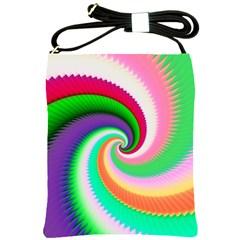 Colorful Spiral Dragon Scales   Shoulder Sling Bags by designworld65