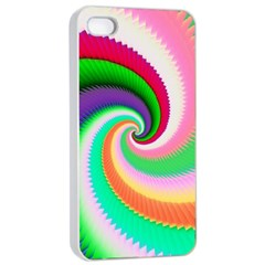 Colorful Spiral Dragon Scales   Apple Iphone 4/4s Seamless Case (white) by designworld65