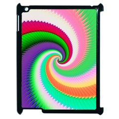 Colorful Spiral Dragon Scales   Apple Ipad 2 Case (black) by designworld65