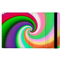 Colorful Spiral Dragon Scales   Apple Ipad 2 Flip Case by designworld65