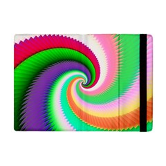 Colorful Spiral Dragon Scales   Apple Ipad Mini Flip Case by designworld65