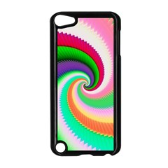 Colorful Spiral Dragon Scales   Apple Ipod Touch 5 Case (black) by designworld65