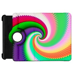 Colorful Spiral Dragon Scales   Kindle Fire Hd Flip 360 Case by designworld65