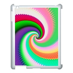 Colorful Spiral Dragon Scales   Apple Ipad 3/4 Case (white) by designworld65