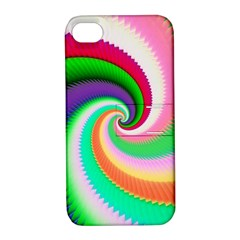 Colorful Spiral Dragon Scales   Apple Iphone 4/4s Hardshell Case With Stand by designworld65