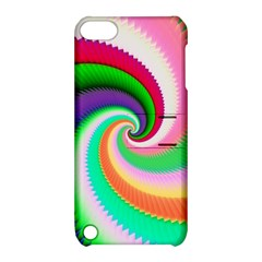Colorful Spiral Dragon Scales   Apple Ipod Touch 5 Hardshell Case With Stand by designworld65
