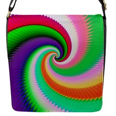 Colorful Spiral Dragon Scales   Flap Messenger Bag (s) by designworld65