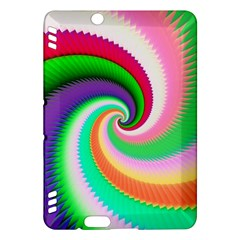 Colorful Spiral Dragon Scales   Kindle Fire Hdx Hardshell Case by designworld65