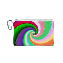 Colorful Spiral Dragon Scales   Canvas Cosmetic Bag (s) by designworld65