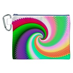 Colorful Spiral Dragon Scales   Canvas Cosmetic Bag (xxl) by designworld65