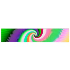 Colorful Spiral Dragon Scales   Flano Scarf (small) by designworld65