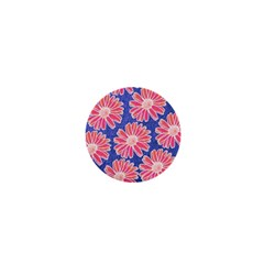 Pink Daisy Pattern 1  Mini Buttons by DanaeStudio