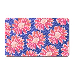 Pink Daisy Pattern Magnet (rectangular) by DanaeStudio