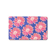 Pink Daisy Pattern Magnet (name Card) by DanaeStudio