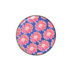 Pink Daisy Pattern Hat Clip Ball Marker (4 Pack) by DanaeStudio