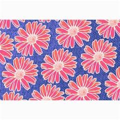 Pink Daisy Pattern Canvas 24  X 36  by DanaeStudio