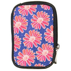 Pink Daisy Pattern Compact Camera Cases by DanaeStudio