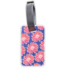 Pink Daisy Pattern Luggage Tags (one Side)  by DanaeStudio