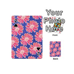 Pink Daisy Pattern Playing Cards 54 (mini)  by DanaeStudio