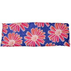 Pink Daisy Pattern Body Pillow Case (dakimakura) by DanaeStudio
