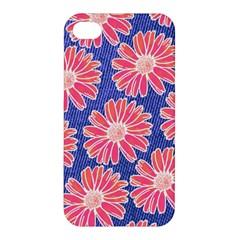 Pink Daisy Pattern Apple Iphone 4/4s Premium Hardshell Case by DanaeStudio