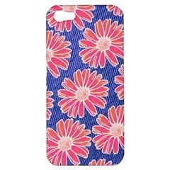 Pink Daisy Pattern Apple Iphone 5 Hardshell Case by DanaeStudio