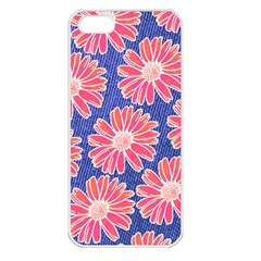Pink Daisy Pattern Apple Iphone 5 Seamless Case (white) by DanaeStudio
