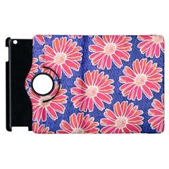 Pink Daisy Pattern Apple Ipad 2 Flip 360 Case by DanaeStudio
