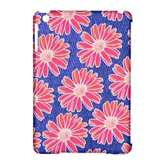 Pink Daisy Pattern Apple Ipad Mini Hardshell Case (compatible With Smart Cover) by DanaeStudio