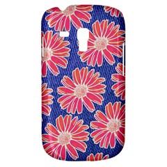 Pink Daisy Pattern Samsung Galaxy S3 Mini I8190 Hardshell Case by DanaeStudio