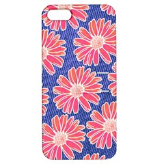 Pink Daisy Pattern Apple Iphone 5 Hardshell Case With Stand by DanaeStudio