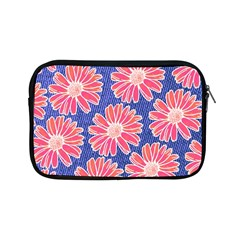 Pink Daisy Pattern Apple Ipad Mini Zipper Cases by DanaeStudio