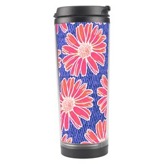 Pink Daisy Pattern Travel Tumbler by DanaeStudio
