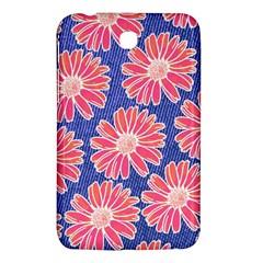 Pink Daisy Pattern Samsung Galaxy Tab 3 (7 ) P3200 Hardshell Case  by DanaeStudio