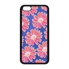 Pink Daisy Pattern Apple Iphone 5c Seamless Case (black) by DanaeStudio