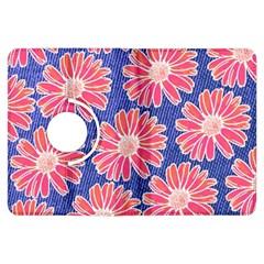 Pink Daisy Pattern Kindle Fire Hdx Flip 360 Case by DanaeStudio