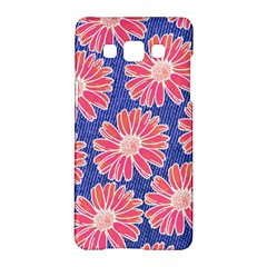Pink Daisy Pattern Samsung Galaxy A5 Hardshell Case  by DanaeStudio