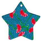 Carnations Ornament (Star)