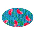Carnations Oval Magnet