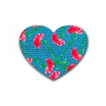 Carnations Heart Coaster (4 pack)