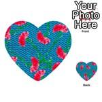 Carnations Multi-purpose Cards (Heart)