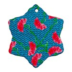Carnations Snowflake Ornament (2-Side)