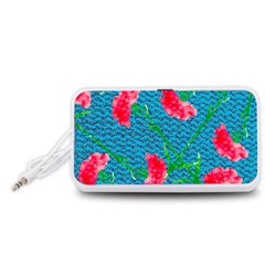 Carnations Portable Speaker (White)  by DanaeStudio