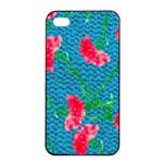 Carnations Apple iPhone 4/4s Seamless Case (Black)