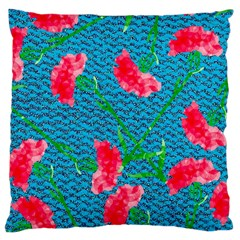 Carnations Large Cushion Case (two Sides) by DanaeStudio