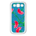 Carnations Samsung Galaxy S3 Back Case (White)